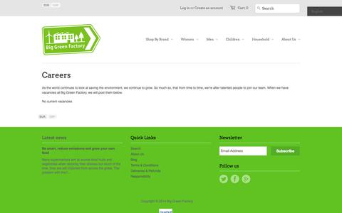 Screenshot of Jobs Page biggreenfactory.com - Careers – Big Green Factory - captured Sept. 30, 2014