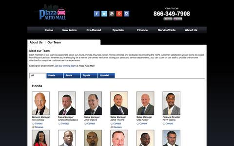 Screenshot of Team Page plazaautomall.com - Meet Plaza Auto Mall's Team Members | Committed to Excellence | Brooklyn, NY - captured Oct. 27, 2014