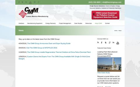 Screenshot of Press Page thecmmgroup.com - News - The CMM Group - captured Jan. 23, 2020
