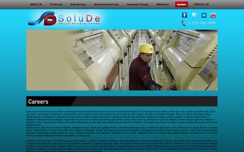 Screenshot of Jobs Page solude.com - Careers - captured Oct. 7, 2014