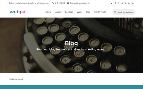 Screenshot of Blog webpal.co.uk - Business & Marketing Blog | Webpal Bristol - captured Feb. 27, 2016