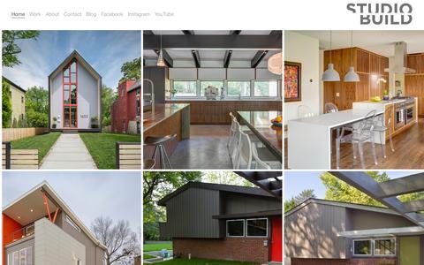 Screenshot of Home Page studiobuild.com - Studio Build - captured Aug. 16, 2015