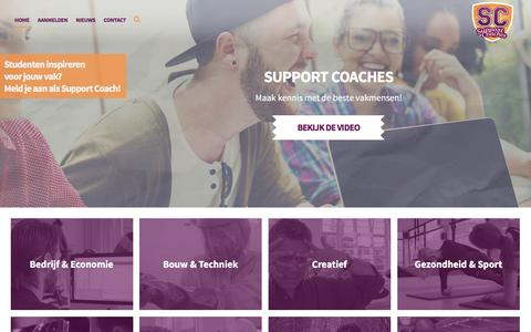 Screenshot of Home Page supportcoaches.nl - Support Coaches - Welkom op de website van Support Coaches! - captured Nov. 15, 2016