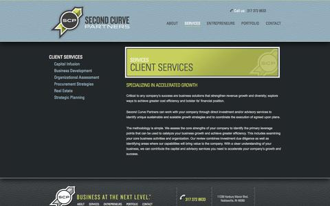 Screenshot of Services Page secondcurvepartners.com - Second Curve Partners |   Client Services - captured Oct. 27, 2014