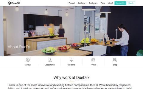 Screenshot of Jobs Page duedil.com - Careers  | DueDil - captured June 19, 2016