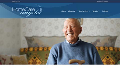 Screenshot of Testimonials Page homecareangelsinc.com - Testimonials   Home Care Angels - captured Aug. 18, 2017