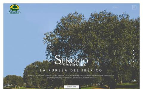 Screenshot of Home Page senorio.es - Señorío De Montanera - captured Oct. 18, 2015