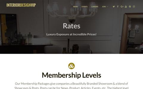 Screenshot of Pricing Page interiordesignvip.com - Rates – Interior Design VIP - captured June 8, 2017