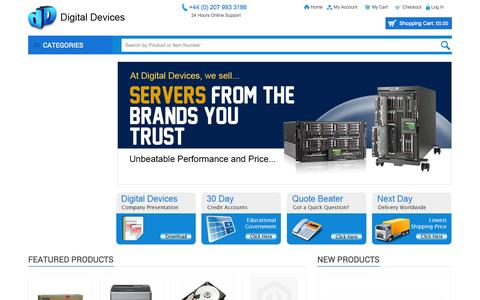 Screenshot of Home Page digitaldevicesonline.co.uk - Home page - captured Oct. 5, 2014