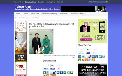 Screenshot of Press Page telecoalert.com - Teleco Alert   Archive   International News - captured Oct. 26, 2014