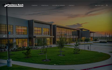 Screenshot of Home Page pkce.com - Multi-disciplined civil engineering firm in Dallas, Texas - captured Sept. 26, 2018
