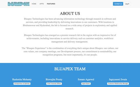 Screenshot of Team Page bluapex.com - Technologies | BLUAPEX Technologies | Sign in to the Future - captured Feb. 7, 2016