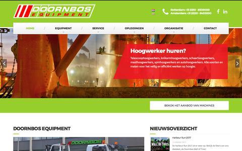 Screenshot of Home Page doornbosequipment.com - Hoogwerker huren | Doornbos Equipment - captured Oct. 12, 2017