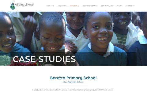 Screenshot of Case Studies Page aspringofhope.org - A Spring of Hope |   Case Studies - captured Nov. 10, 2018