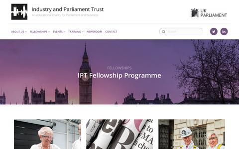 Screenshot of Case Studies Page ipt.org.uk - IPT > Fellowships - captured Oct. 2, 2018