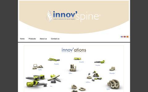 Screenshot of Home Page innovspine.com - innov'spine - innov'spine - captured Jan. 9, 2016