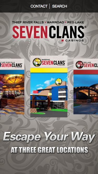 Screenshot of Home Page  sevenclanscasino.com - Seven Clans Casinos | Escape Your Way at Northern Minnesota's Gaming Destination!
