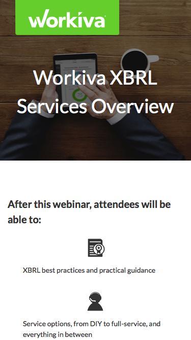 Workiva XBRL Services Overview | Workiva