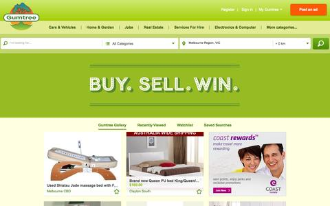 Screenshot of Home Page gumtree.com.au captured Oct. 28, 2015