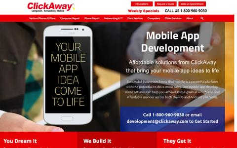 Screenshot of Developers Page clickaway.com - Mobile Apps and Development - ClickAway - captured May 17, 2016
