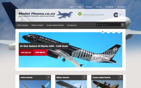 Screenshot of Home Page FAQ Page modelplanes.co.nz - Airline Models, Custom Made Models, Military Models    Model Planes.co.nz - captured Oct. 7, 2014