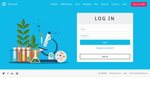 Screenshot of Login Page deskgen.com - DESKGEN | Log In - captured Nov. 24, 2016
