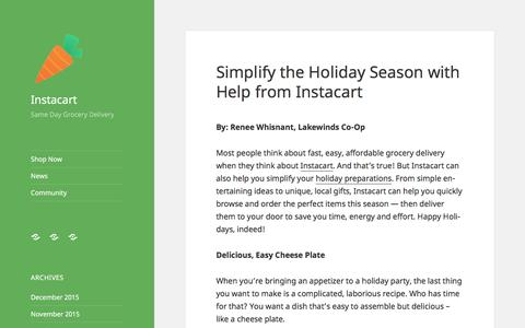 Instacart | Same Day Grocery Delivery