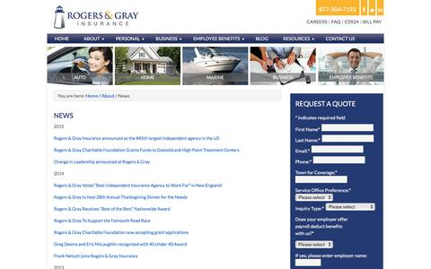 Screenshot of Press Page rogersgray.com - Agency News & Services | Rogers & Gray Insurance - captured Dec. 1, 2016