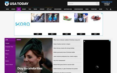 Screenshot of Team Page usatoday.com - Celebrity Photos, Videos and Interviews - USATODAY.com - captured Dec. 26, 2015