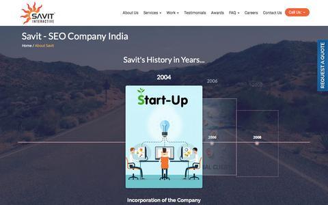 Screenshot of About Page savit.in - SEO Company India - Savit - captured Nov. 27, 2016