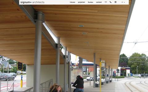 Screenshot of Home Page signum.be - signum+ architects - architectenbureau Gent - captured Feb. 16, 2016