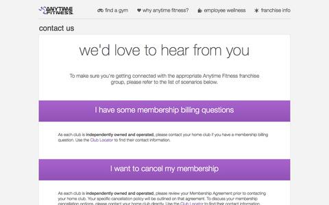 Screenshot of Contact Page anytimefitness.co.uk - Contact Us | Anytime Fitness UK - captured Sept. 19, 2014