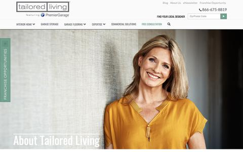 Screenshot of About Page tailoredliving.com - Professional Home Organization Company | Tailored Living - captured Sept. 21, 2018