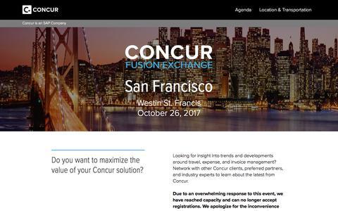 Fusion Exchange San Francisco - Concur