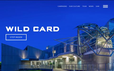 Screenshot of Home Page wildcardav.com - Wild Card | Creative Advertising - captured March 4, 2016