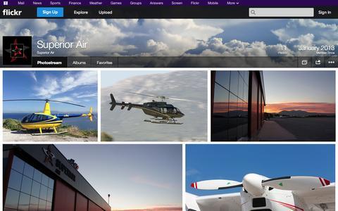 Screenshot of Flickr Page flickr.com - Flickr: Superior Air's Photostream - captured Oct. 26, 2014