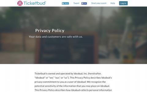 Ticketbud á Privacy Policy