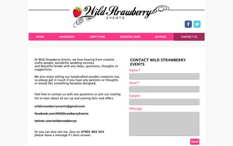 Screenshot of Contact Page wildstrawberryevents.com - Wild Strawberry Events - Craft & Gift Fairs in Sussex | CONTACT US - captured Oct. 19, 2018