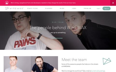 Screenshot of Team Page wirewax.com - WIREWAX - Meet The Team - captured Sept. 4, 2016