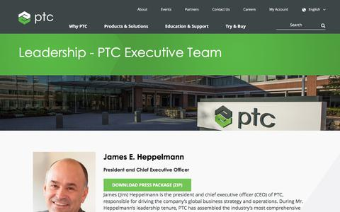 Screenshot of Team Page ptc.com - Leadership - PTC Executive Team | PTC - captured Oct. 8, 2017