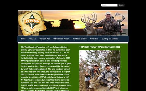Screenshot of About Page mwspllc.com - About Us - Mid West Sporting Properties, LLC - captured Oct. 27, 2014