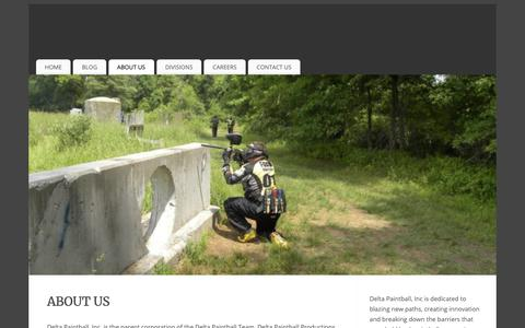 Screenshot of About Page deltapaintball.org - About Us | Delta Paintball, Inc. - captured Oct. 8, 2018