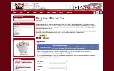Screenshot of Signup Page jetaasc.org - Registration - captured Oct. 4, 2014