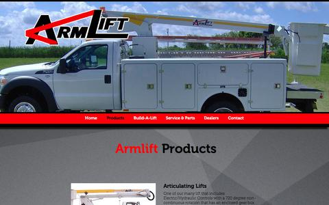 Screenshot of Products Page armlift.com - Products | Armlift - captured Oct. 26, 2017