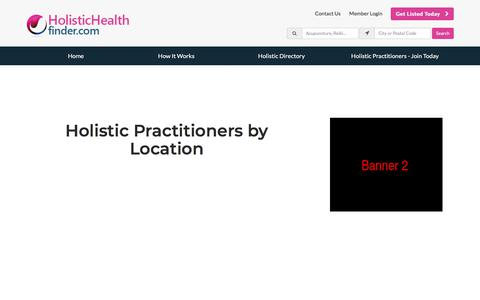 Screenshot of Locations Page holistichealthfinder.com - Find Holistic Practitioners by Location - HolisticHealthFinder - captured July 21, 2018