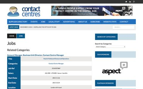 Screenshot of Jobs Page contact-centres.com - Jobs - Contact-Centres.com - captured Dec. 14, 2015