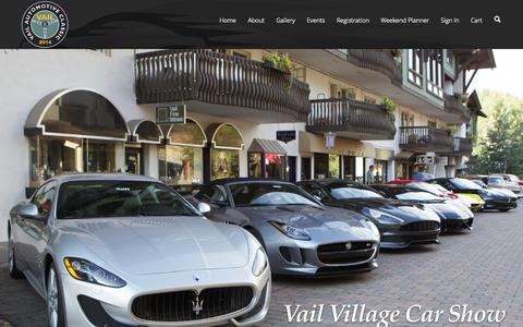 Screenshot of Home Page vailautoshow.com - Vail Automotive Classic | The Vail Valley's Premier Auto & Aircraft Show - captured Oct. 6, 2014