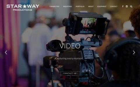 Screenshot of Home Page starway.com - Star Way Productions | Home - captured Oct. 27, 2017