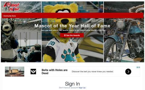 Screenshot of Login Page mascotinsider.com - (Offline) Sign In - MascotInsider - captured June 10, 2017