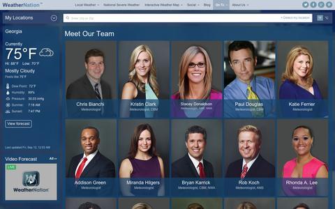 Screenshot of Team Page weathernationtv.com - Meet The Team | Weather Video, Weather, Forecasts | WeatherNation - captured Sept. 12, 2014